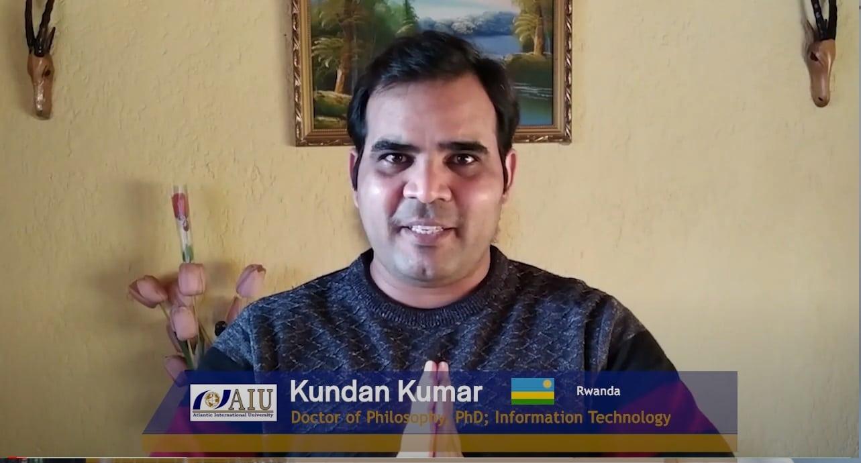 Kundan Kumar Graduating Atlantic International University Student Interview of 2020