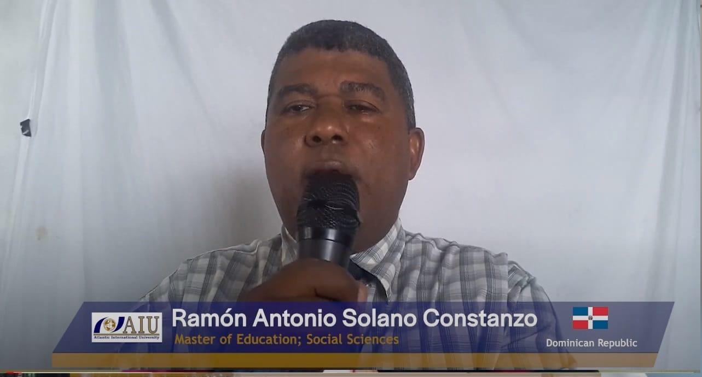 Ramón Antonio Solano Constanzo Successful Graduating Atlantic International University Student Interview of 2020